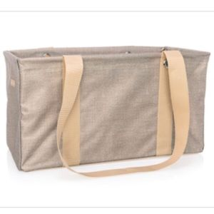 Medium Utility Tote-Frosted Gold Metallic